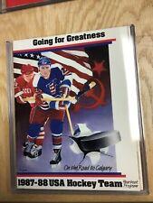 1987-88 USA Hockey Team Yearbook Program