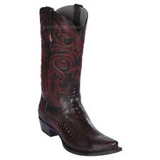 Men's Los Altos Genuine Ostrich Leg Cowboy Western Boots Snip Toe