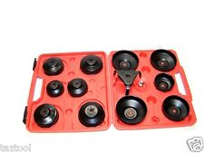 13 PC OIL FILTER CAP WRENCH W / 3 JAWS OIL FILTER REMOVER INSTALLER TOOL KIT SET