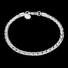 Wholesale Fashion 925Sterling Solid Silver Men Jewelry Rope Chain Bracelet H210