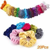 CUTEFA 20 Pack Big Velvet Hair Scrunchies Large Colorful Velvet Hair Ties