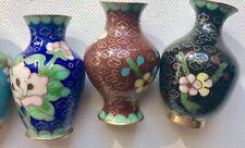 2 X Vintage Chinese Cloisonne Miniature Egg 5 X Vase