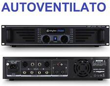 AMPLIFICATORE FINALE DI POTENZA PA PROFESSIONALE 240W VENTILATO A 2 CANALI DJ LI