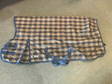 "Used Noreasta Medium Weight Turnout Blanket - Size 75"" - Brown & Navy Check"