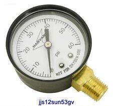 """NEW 0-60 PSI Pool Spa Filter Pressure Gauge 2""""Face 1/4""""  lower mount w/FREE SHIP"""