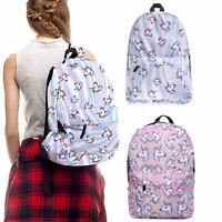 3D Unicorn Backpack Rainbow College School Bag Bookbag Girls Rucksack Satchel