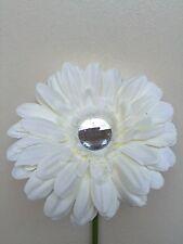 VW beetle large white daisy gerbera & gem centre dash board bud vase flower