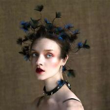 Women's Feather Flower Headband Alice Band Fascinator Wedding Hair Accessories