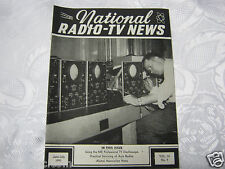 National Radio News 1951 tube vintage electronics magazine auto radio service