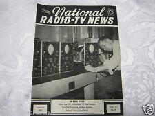 National Radio News 1951  tube vintage electronics magazine auto radio service