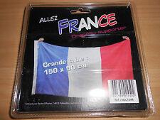 drapeau supporter foot équipe de france 150 x 90 cm - neuf