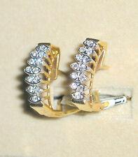 SOLID       14K  Gold     Diamond    Earrings
