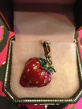 2008 Juicy Couture Red Enamel Strawberry Charm Euc