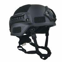 MICH Militaria BLACK UHMW-PE BALLISTIC IIIA BULLET PROOF HELMET Safe Hats SIZE L