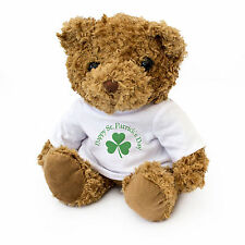 NEW - Happy St Patrick's Day - Teddy Bear - Cute And Cuddly - Gift Present
