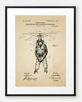 Funny Vintage Steampunk Chimp Art Poster Surreal Flying Monkey Patent Print