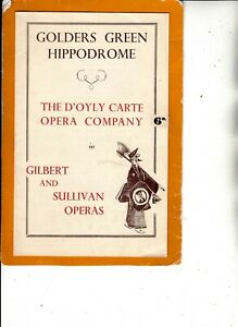 D'Oyly Carte Opera Company 1950  Golders Green - H.M.S. Pinafore -  Cox and Box