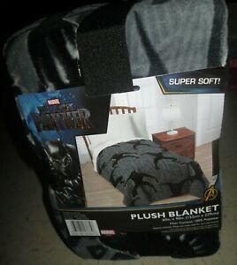 "Black Panther Plush Throw Blanket Super Soft 60"" x 90"" (152 cm x 229 cm) NIP"