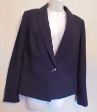 Planet UK10 EU38 US6 black lined long-sleeved blazer/suit jacket