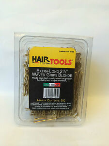 HAIR TOOLS EXTRA-LONG 2 1/2 INCH  WAVED GRIPS BLONDE 500 BOX