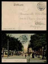 DR WHO 1907 GERMANY METZ AVENUE POSTCARD C186154