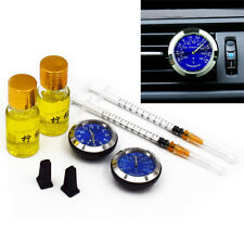 Car Offroad A/C Vent Clip Clock Watch Thermometer Perfume Refill Storage Pretty