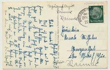 Bahnpoststempel BRETLEBEN-SONDERSHAUSEN 1940 auf D. Reich Postkarte (24988)