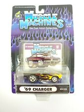 Muscle Machines '69 Charger Black With Flames 02-102- 1:64