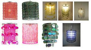 Leuchtenschirme für Decke oder Tischleuchte Pailletten/Organzastoff