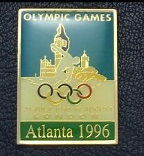 Olympic Pin Badge~Poster Pin~London England, UK 1948~1996 Atlanta~NEW on CARD