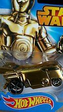 HOT WHEELS VOLKSWAGEN DRAG BUS DIE CAST MINT GOLD COLOUR 1:64