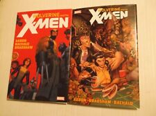 HC WOLVERINE AND THE X-MEN  MARVEL HARDCOVER LOT - VOLUMES 1 AND 2
