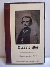 Classic Poe - Commuters Library - 2 Cassettes - 7 Stories - Ralph Cosham - NOS