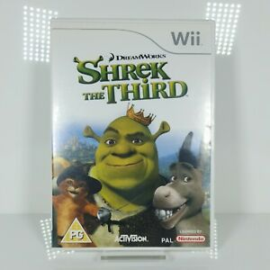 Nintendo Wii Game  Shrek The Third  Instructions game free delivery