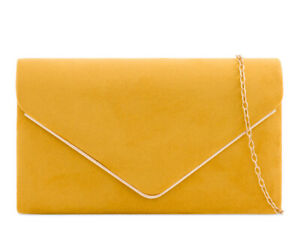 Suede New Evening Clutch Bags Prom Party Wedding 19 Colours 1616