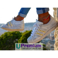 Adidas Superstar Borchiate Bianche Oro Vintage 2017 Scarpe ORIGINALI 100% ® ITAL