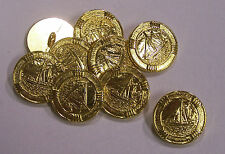 8pc 21mm Sailing Boat Inprint Bright Gold Metal Military Blazer Button   2093