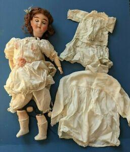 "Max Handwerck sleeping eyes 19"" child doll Germany O¼ Silk dress vintage antique"