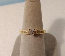 14k YELLOW GOLD PRINCESS DIAMOND ENGAGEMENT RING 1/2 CT TW ~ SZ 7 ~ 4.31 GR NEW