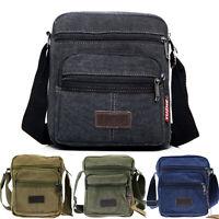 Men's Vintage Canvas School Shoulder Bag Crossbody Satchel Messenger Sports Bags