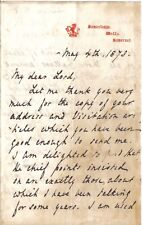 Edward Freeman - Oxford History Prof - activist in Bosnia uprising - 1878 letter