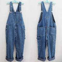 Men's Cotton Denim Overalls Jumpsuits Suspender Trousers Jeans Pants Plus size