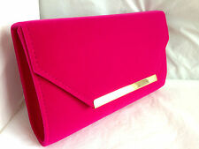 NEW NUDE FAUX SUEDE EVENING DAY CLUTCH BAG WEDDING PROM PARTY CLUB NAVY BLUE