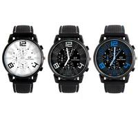 Herrenuhr Quarz Silicon Armband Uhr Sportuhr Armbanduhr Schwarz Rot  Watch U1379