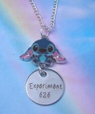 EXPERIMENT 626 STITCH NECKLACE IN GIFT BAG LILO AND STITCH QUOTE CHARM