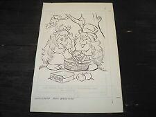 Snugglebumm Coloring Book Original Artwork RARE! Stan Goldberg! ART#0552