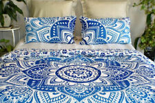 Lotus Ombre Mandala Bedspread Cotton Tapestry Luxurious Bedding Set with Pillows