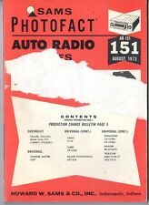 Sams Photofact-Auto Radio Manual/#AR-151/First Edition-First Print/1973