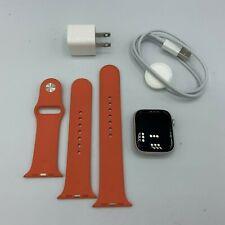 Apple Watch Series 5 Aluminum Cellular Silver Sport 44mm +Orange Sport Band 7/10