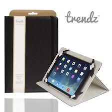 """Trendz 10"""" Universal Tablet Folio Estuche Soporte integrado suave cubierta negra delgada con cierre magnético"""